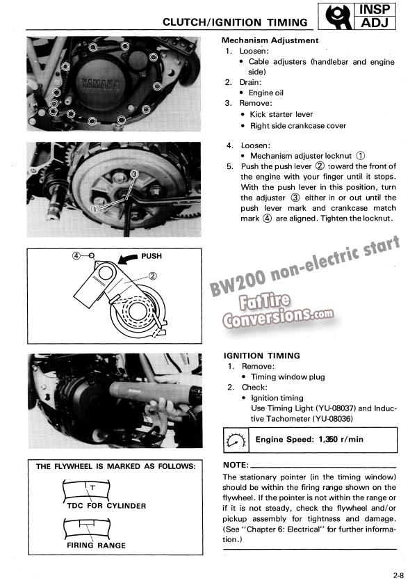 FatTireConversion com - 603-225-2779 x 254 - Yamaha BW200 service